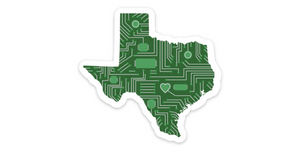 Circuit Board Texas Sticker SA Flavor