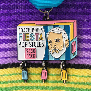 Coach Popovich's Fiesta POP-SICLES Fiesta Medal 2020 by Namepinding