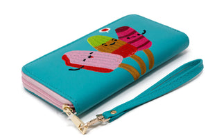 Cute Popsicle Wallet Paletas Clutch Zip Around Diagonal