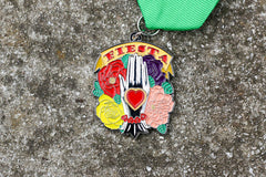Hand and Heart Milagro Fiesta Medal 2018 by Denise Ojeda
