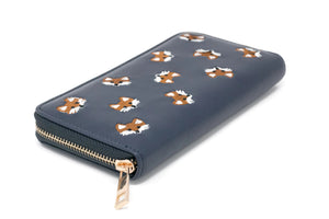 Fox Clutch Zip Around Wallet