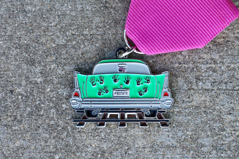 Express News 2ND PLACE: Ghost Tracks Fiesta Medal 2018 by Clara-Nicole She's Crafty Too
