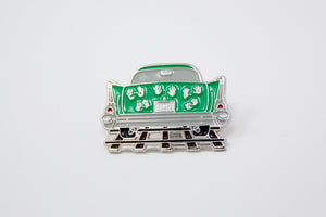 Ghost Tracks Enamel Pin SA Flavor