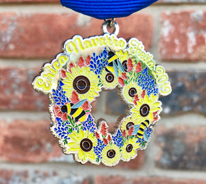 Texas Wildflower Wreath Fiesta Medal 2019 by Erica Navarro