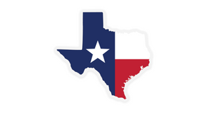 Lone Star Texas Sticker Red White Blue