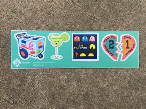Paleta Cart, Margartia, Pacman and Broken Heart Laptop Stickers