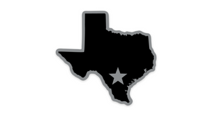 San Antonio Spurs Silver and Black Texas Sticker