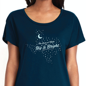 Stars at Night Big and Bright Texas Shirt Womens