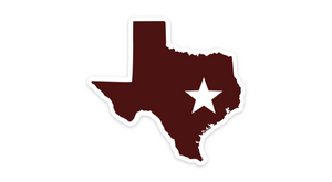 Texas Aggies Sticker College Station Maroon TX