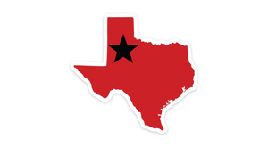 Texas Tech Red and Black Texas Sticker