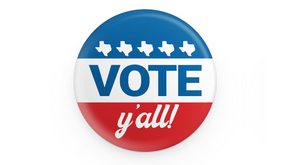 Vote Y'all Button
