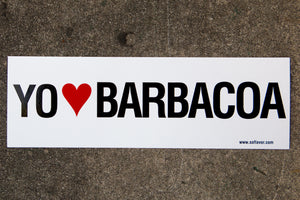 Yo [Heart] Barbacoa Bumper Sticker