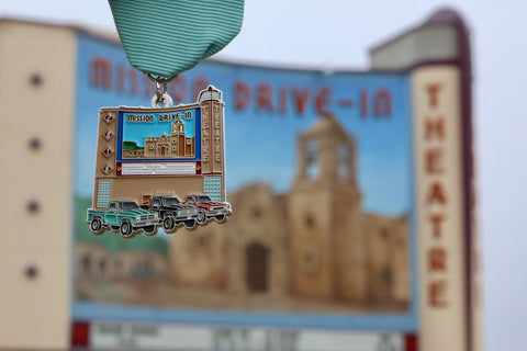 Mission Drive-In Fiesta Medal 2018 by Selina Bonilla