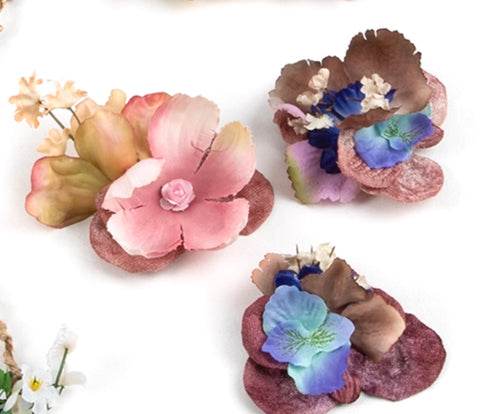 VIntage flower Hair Clips (Pack of 10)