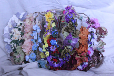 Assorted 12 Pack of Vintage Flower Headbands