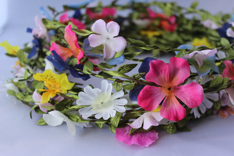 Pack of 100 Assorted Texile Flower Headbands