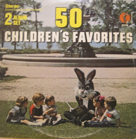 50 children's favorites - grown man in rabbit outfit