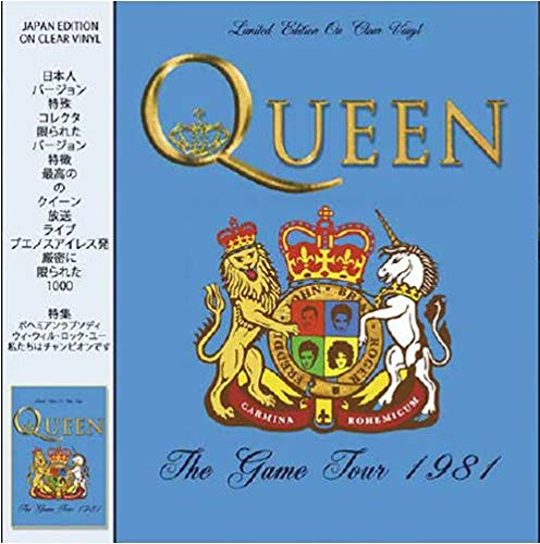 Queen - The Game Tour 1981 - Live In Concert on Clear Vinyl