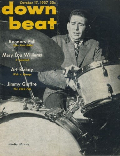 Down Beat - Oct 17, 1957 / Shelley Manne