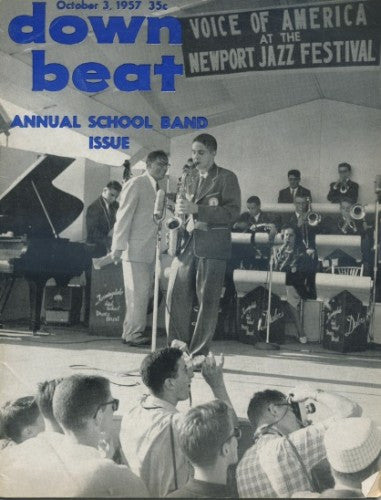 Down Beat - Oct 3, 1957/ Annual School Band Issue
