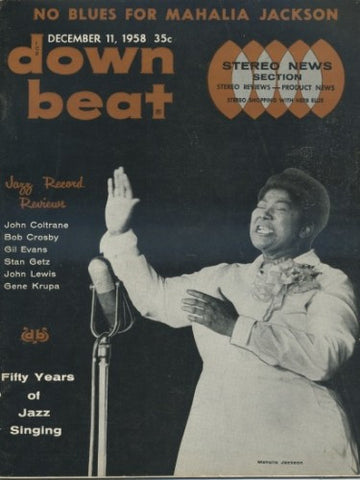 Down Beat - December 11, 1958 - Mahalia Jackson