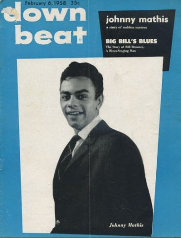 Down Beat - Feb 6, 1958 / Johnny Mathis