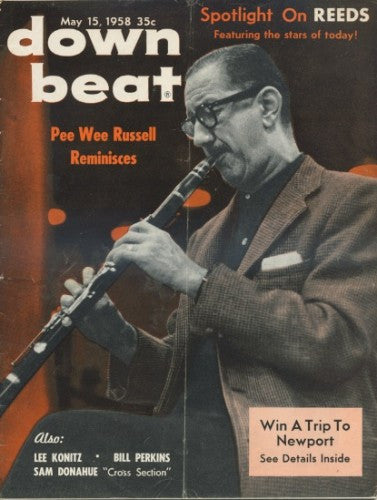 Down Beat - May 15, 1958/ Pee Wee Russell