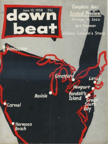 Down Beat - June 12, 1958/ Jazz Festival Preview