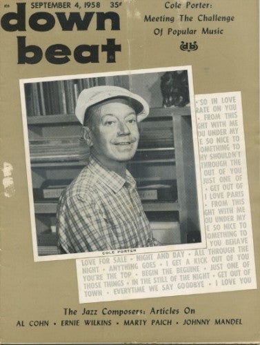Down Beat - Sept 4, 1958 / Cole Porter