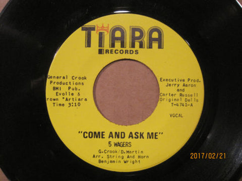 5 Wagers - Come and Ask Me b/w Come and Ask Me (Instrumental)