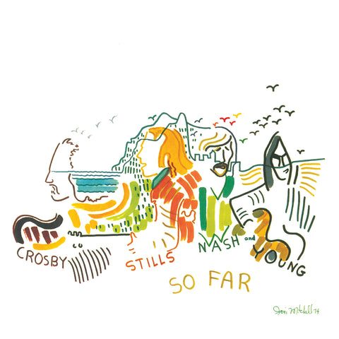 Crosby Stills Nash & Young - So Far -  Anniversary issue on WHITE vinyl