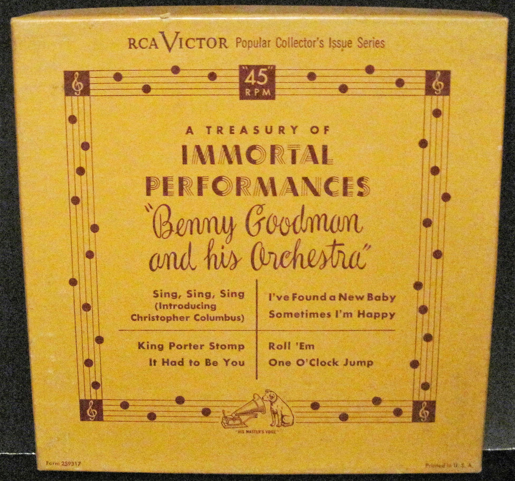 Benny Goodman - RCA Box Set of FOUR 45s WPT 12