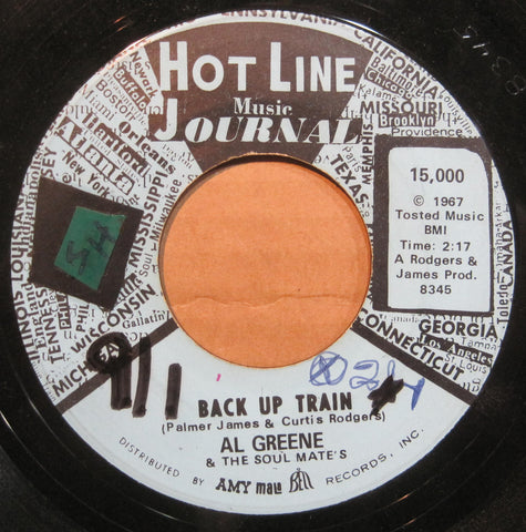 Al Green - Back Up Train b/w Don't Leave Me