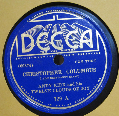 Andy Kirk & His Twelve Clouds of Joy - Christopher Columbus b/w Froggy Bottom