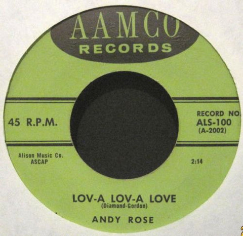 Andy Love - Lov-A Lov-A Love b/w Just Young