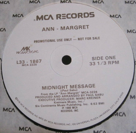 Ann Margret - Midnight Message b/w What I Do To Men