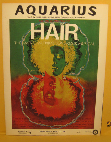 Aquarius - 1968 Sheet Music from HAIR