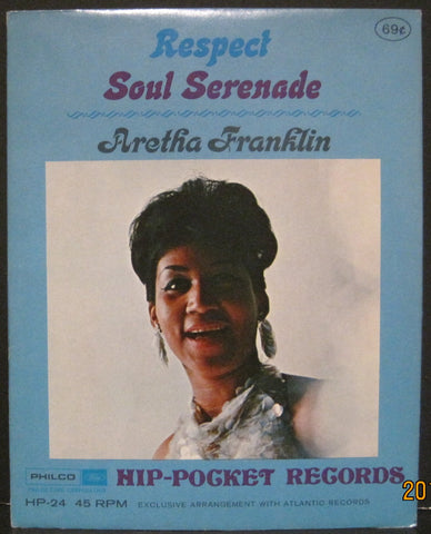 Aretha Franklin - Respect b/w Soul Serenade - Hip-Pocket Record