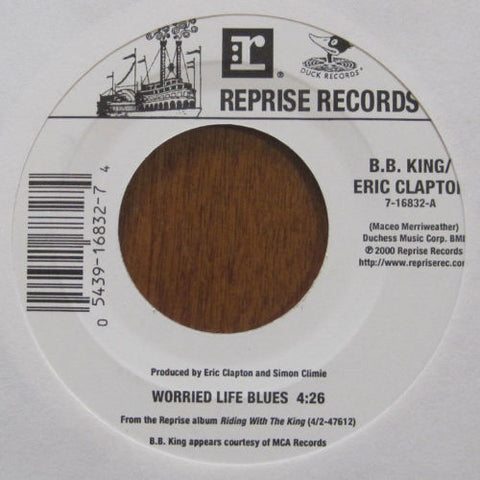 B.B. King and Eric Clapton - Worried Life Blues b/w Days of Old