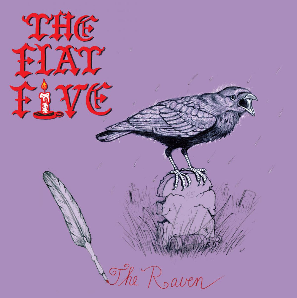 "Flat Five - The Raven - Limited Edition 7"" on ORANGE vinyl"