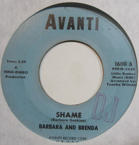 Barbara and Brenda - Shame b/w Let's Get Together