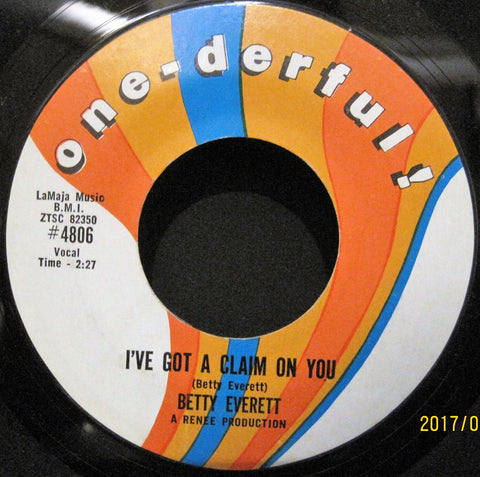 Betty Everett - I've Got A Claim On You b/w Your Love Is Important To Me