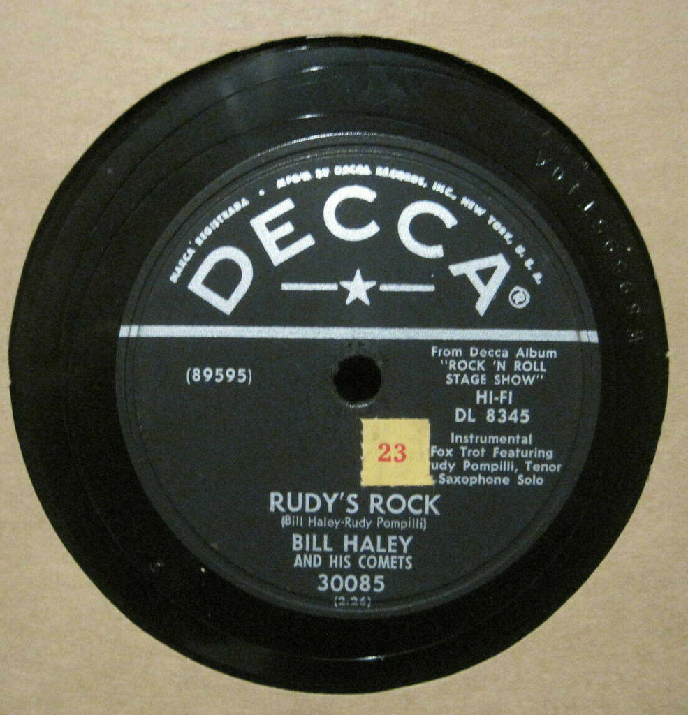 Bill Haley & His Comets - Rudy's Rock b/w Blue Comet Blues