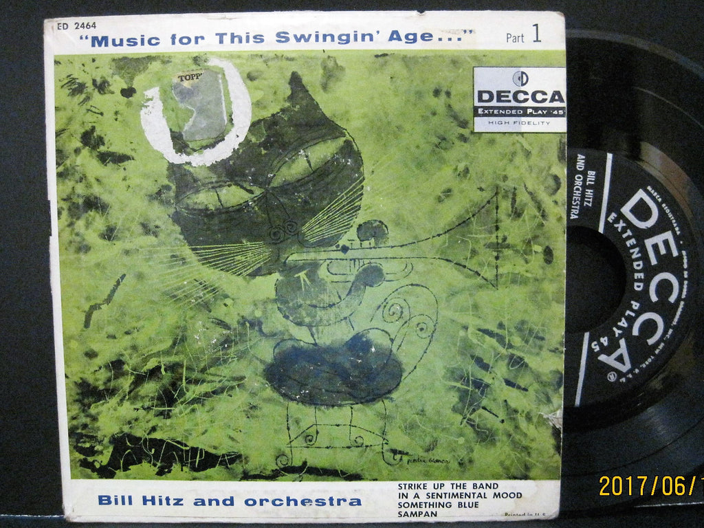 Bill Hitz & His Orchestra - Music For This Swingin' Age Part 1 EP