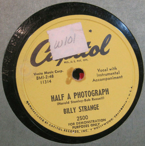 Billy Strange - Half a Photograph b/w Red