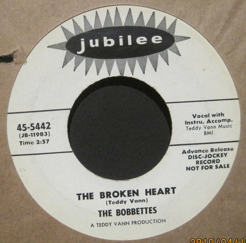 Bobbettes - Mama Papa b/w The Broken Heart