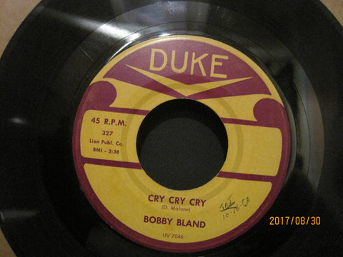 Bobby Bland - Cry Cry Cry b/w I've Been Wrong So Long