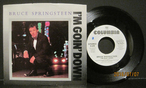 Bruce Springsteen - I'm Going Down (Both Sides) White Label Promo w/ PS