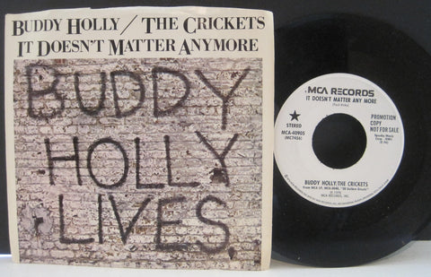 Buddy Holly & The Crickets - It Doesn't Matter Anymore Promo w/ PS