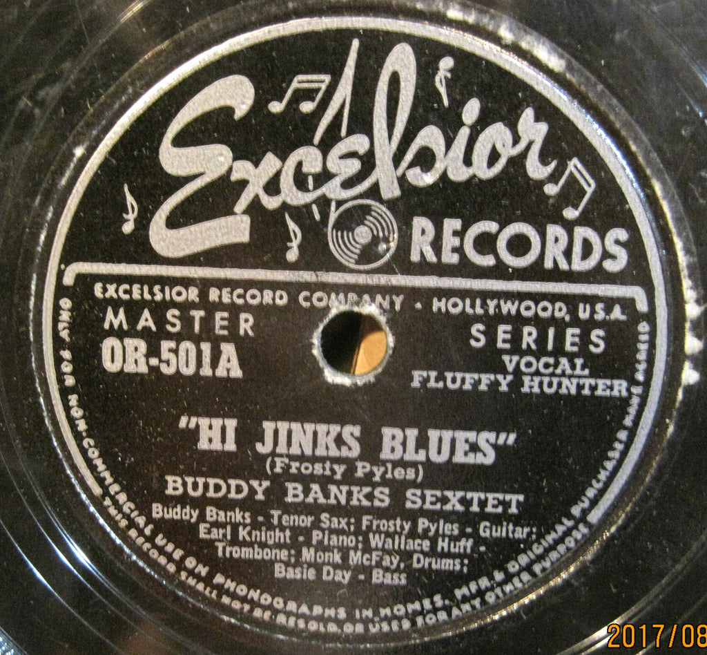 Buddy Banks Sextet - Hi Jinks Blues b/w Name It and Claim It